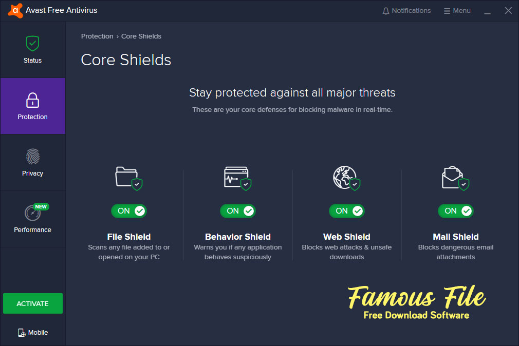 Avast Free Antivirus for Windows