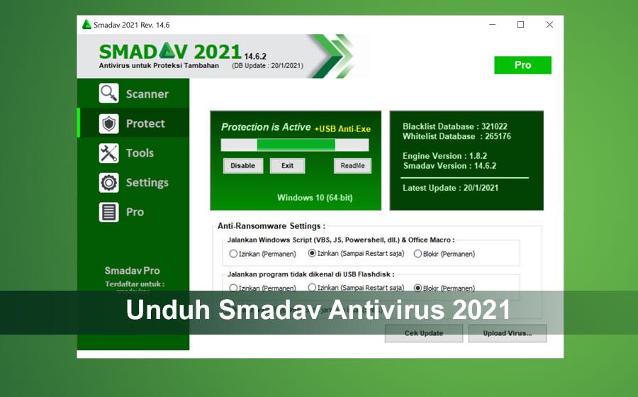 Unduh Smadav Antivirus 2021 Rev.14.6 Gratis Terbaru